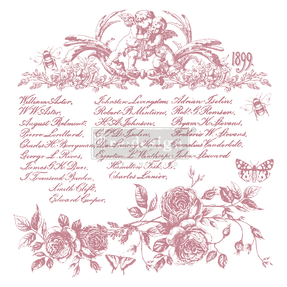 Redesign with Prima Redesign - Clear-Cling Stamps - Floral Script