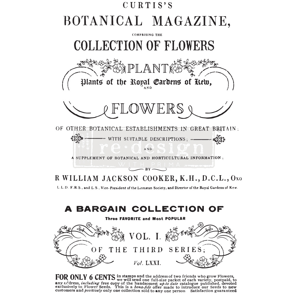 Redesign with Prima Redesign - Decor Transfer - Botanical Magazine