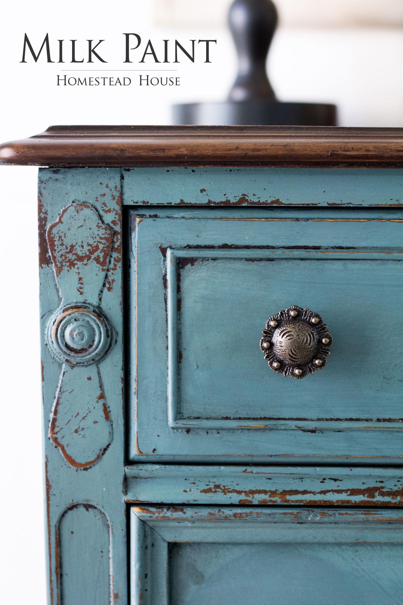 Homestead House HH - Milk Paint - Quaker Blue - 230gr