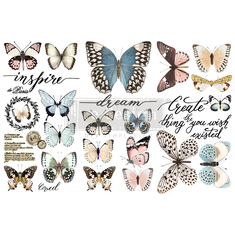 Redesign with Prima Redesign - Decor Transfer - Papillon Collection