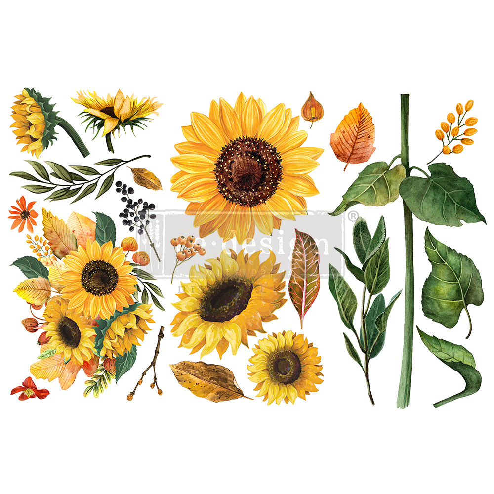 Redesign with Prima Redesign - Decor Transfer - Sunflower Afternoon