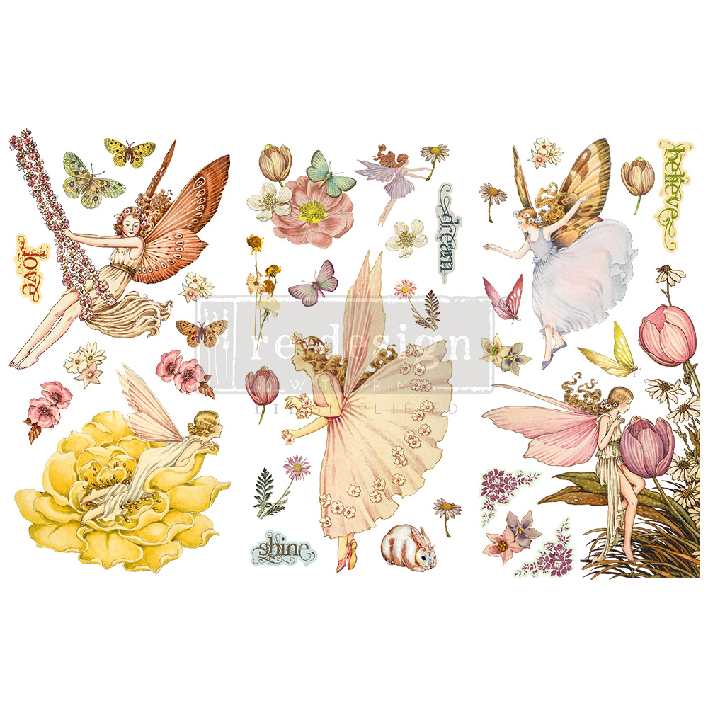 Redesign with Prima Redesign - Decor Transfer - Fairy Flowers