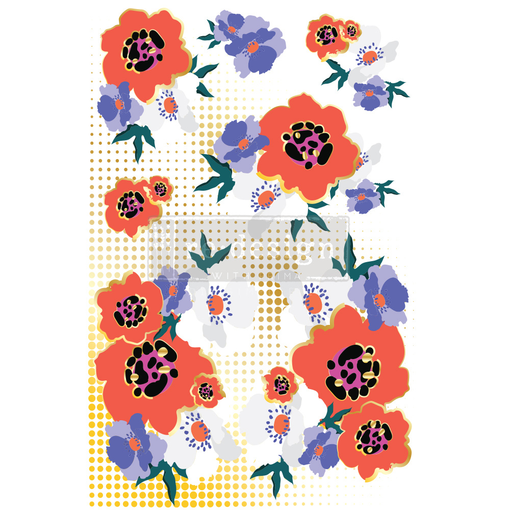 Redesign with Prima Redesign - Decor Transfer - Modernist Floral