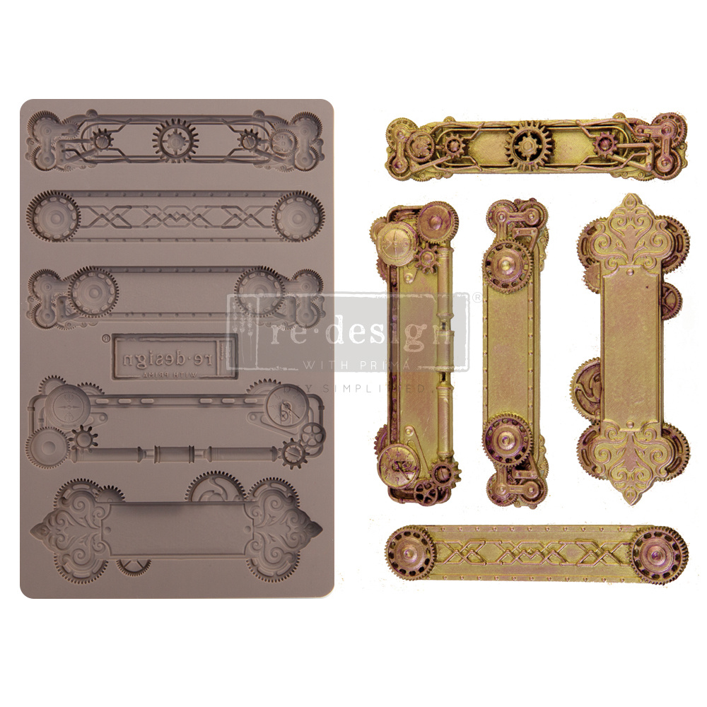 Redesign with Prima Redesign - Mould - Steampunk Plates