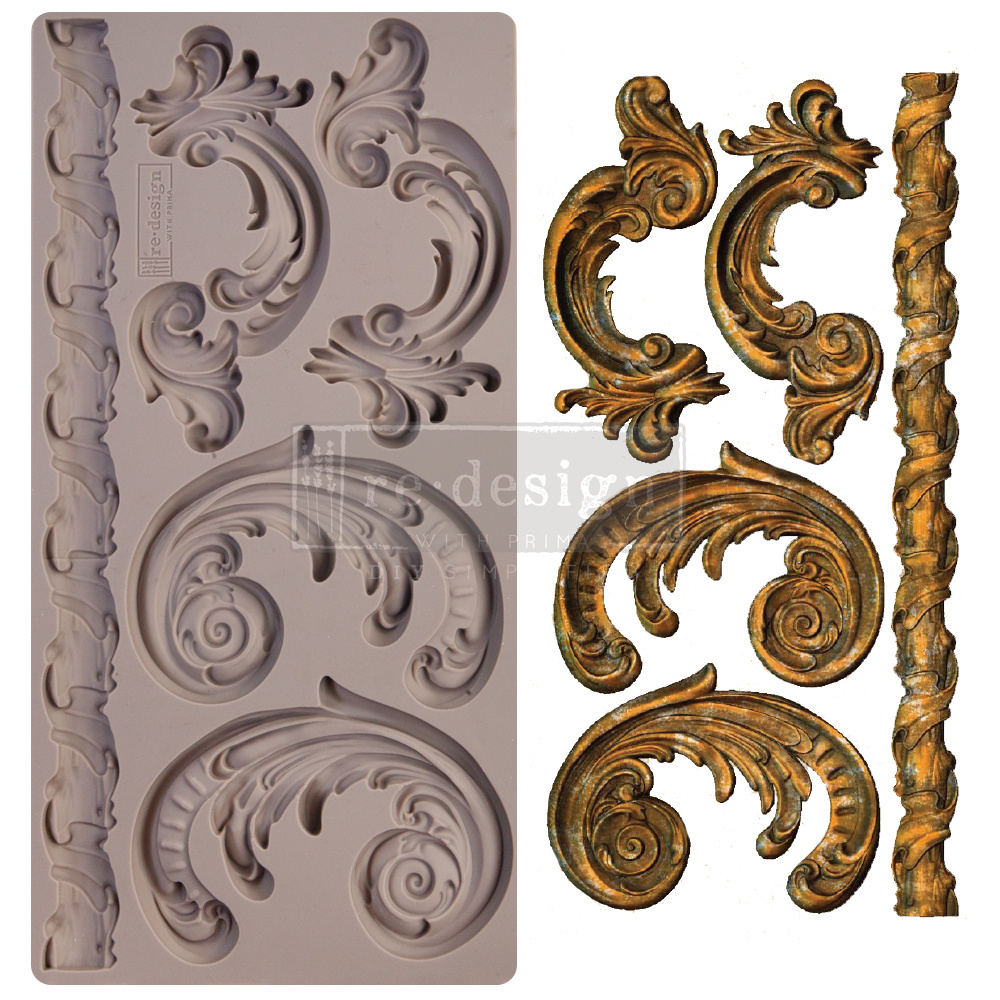 Redesign with Prima Redesign - Mould - Lilian Scrolls