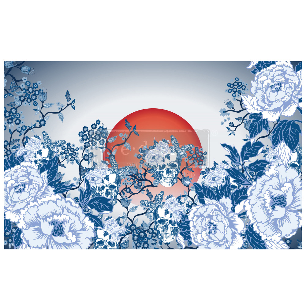 Redesign with Prima Redesign - Decoupage Tissue Paper - Skull Chinoiserie
