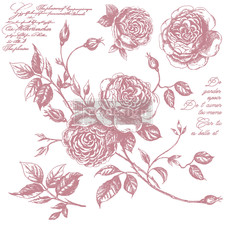Redesign with Prima Redesign - Clear-Cling Stamps - Romance Roses