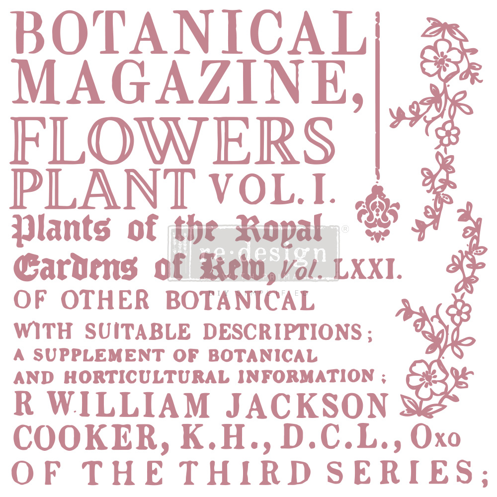 Redesign with Prima Redesign - Clear-Cling Stamps - Botanical Encyclopedia