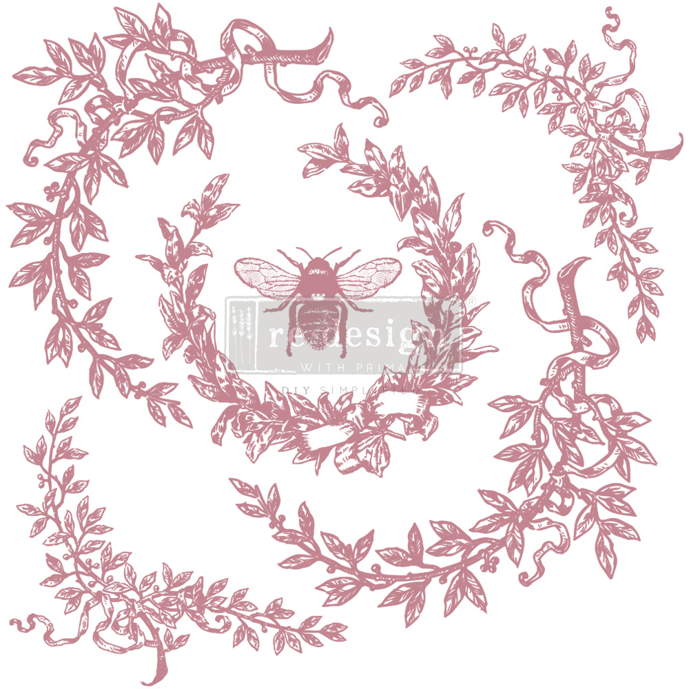 Redesign with Prima Redesign - Clear-Cling Stamps - French Laurels