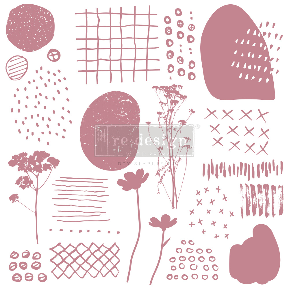 Redesign with Prima Redesign - Clear-Cling Stamps - Abstract Scribbles