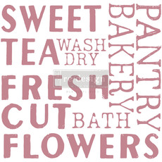 Redesign with Prima Redesign - Clear-Cling Stamps - Sweet Tea