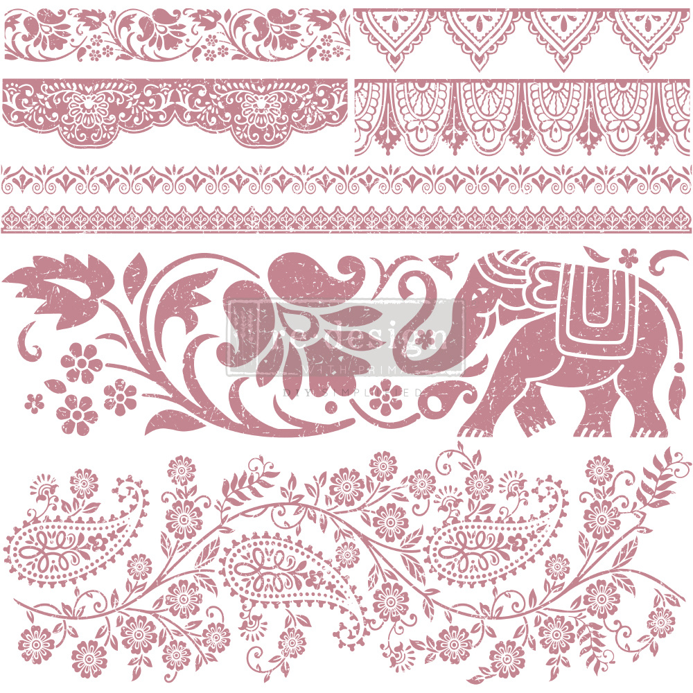 Redesign with Prima Redesign - Clear-Cling Stamps - Bohemian Dreamer