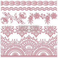 Redesign with Prima Redesign - Clear-Cling Stamps - Bohemian Florals
