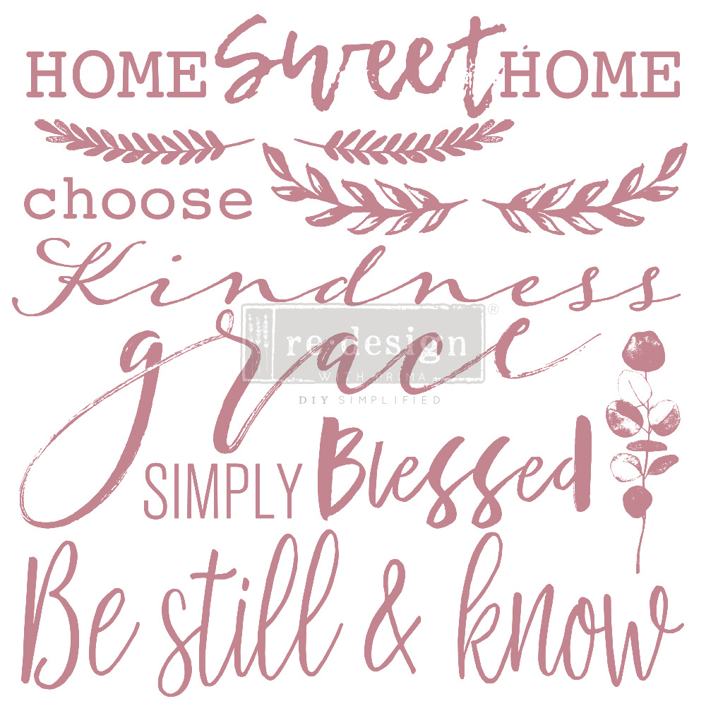 Redesign with Prima Redesign - Clear-Cling Stamps - Inspired Words