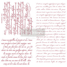 Redesign with Prima Redesign - Clear-Cling Stamps - Vintage   Script