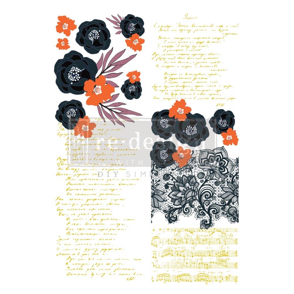 Redesign with Prima Redesign - Decor Transfer - Fleur Noir