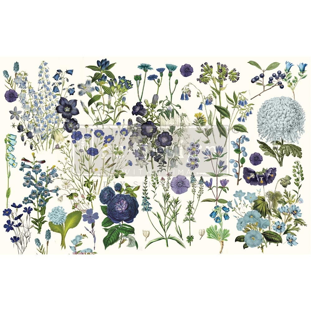 Redesign with Prima Redesign - Decoupage Tissue Paper - Blue Meadows