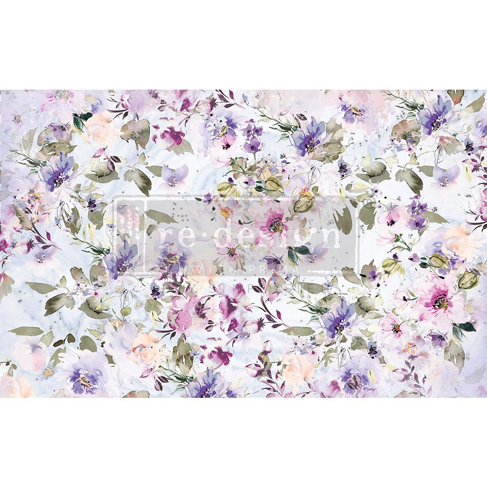 Redesign with Prima Redesign - Decoupage Tissue Paper - Amethyst Dance