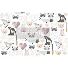Redesign with Prima Redesign - Decoupage Tissue Paper - Origami Love