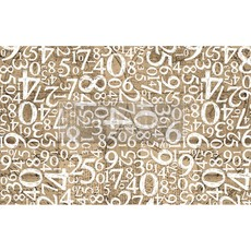 Redesign with Prima Redesign - Decoupage Tissue Paper - Engraved Numbers