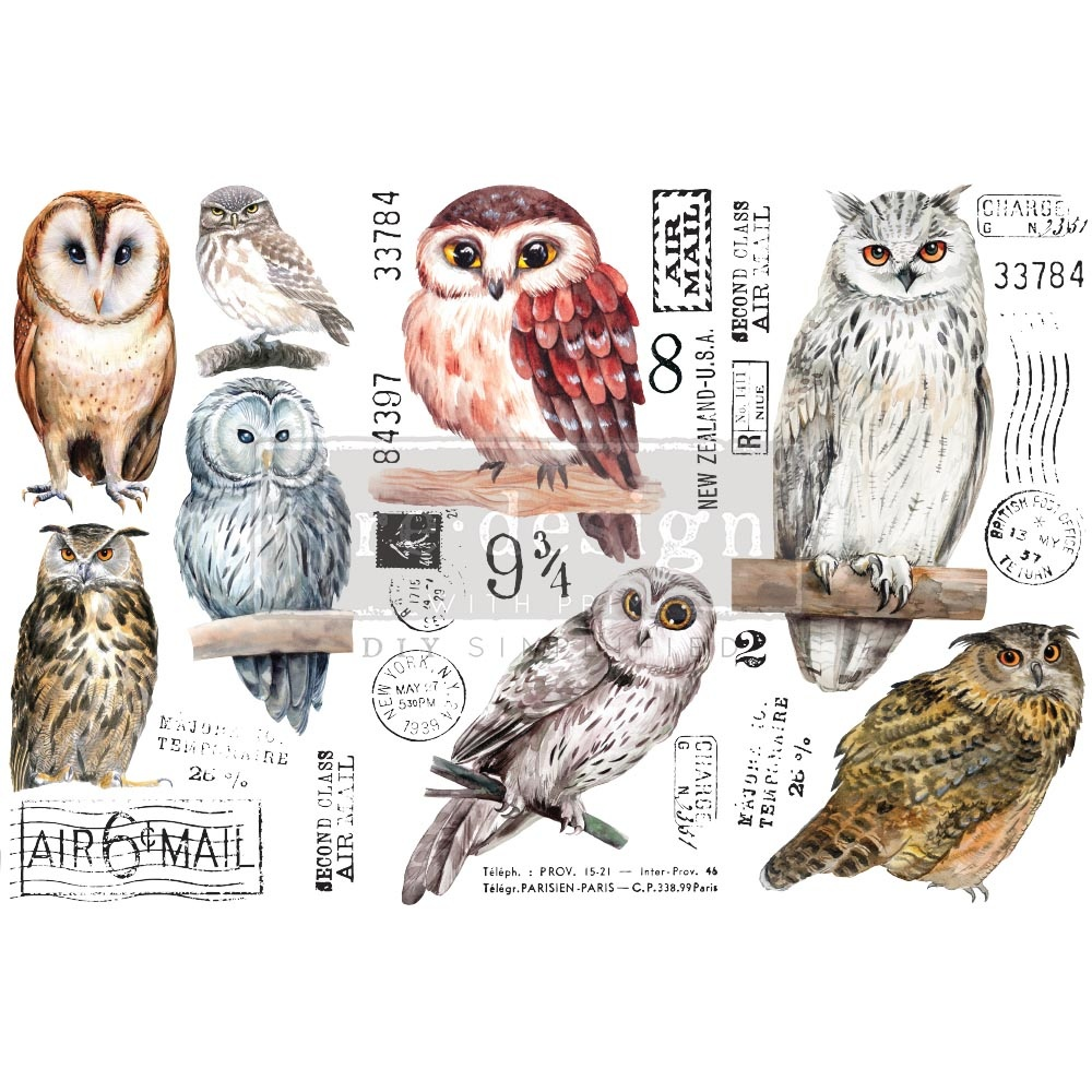 Redesign with Prima Redesign - Decor Transfer - Owl
