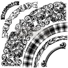Redesign with Prima Redesign - Clear-Cling Stamps - Curved Accents