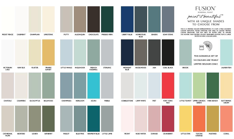 Fusion Mineral Paint Fusion - Colour Card 2021 - 10pcs