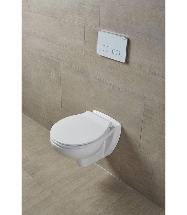 Sanitear EGGE Slim Softclose Toiletbril Afklikbare Slim Line
