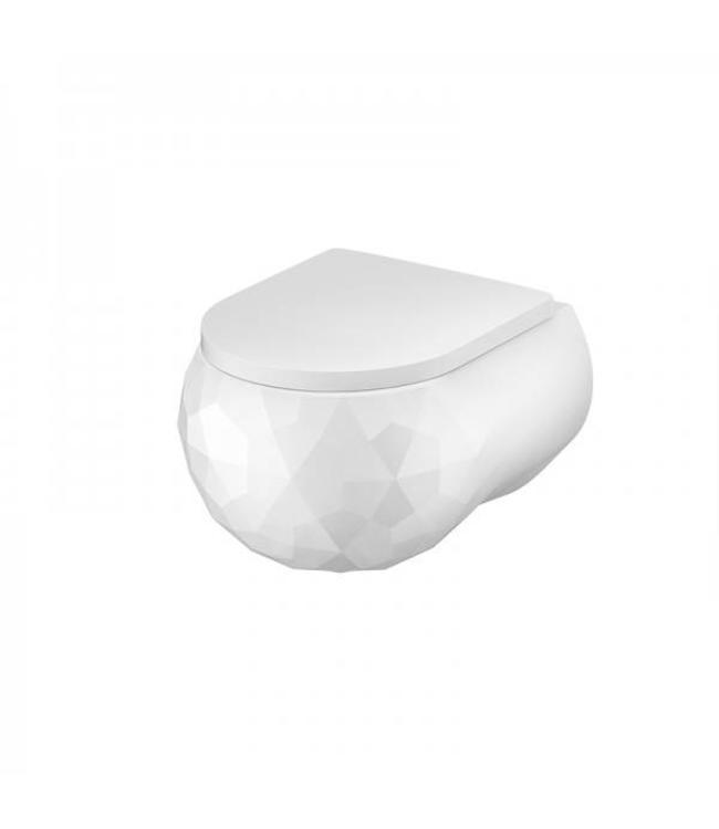 Sanitear Kwarts wandcloset wit mat zonder spoelrand