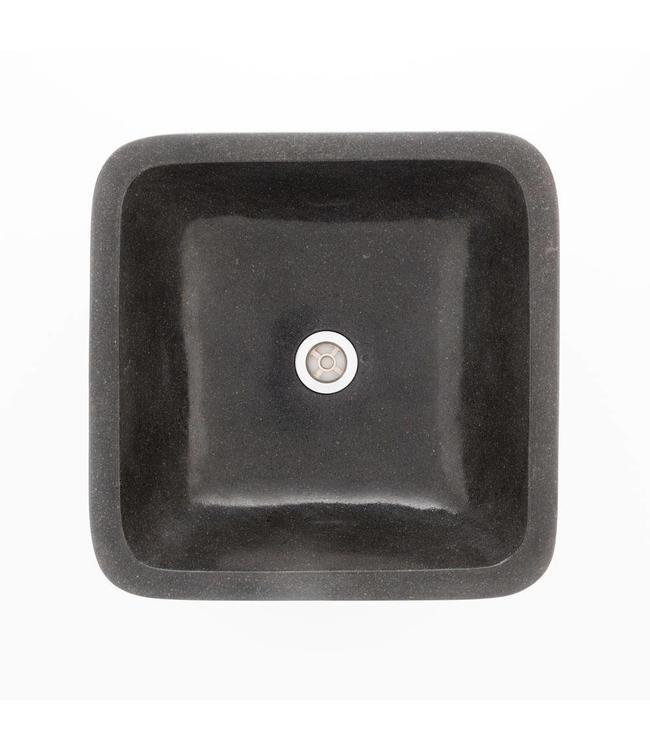 Sanitear  NATUURSTEEN WASKOM  SQUARE , ZWART  40 X 40 X 10 cm