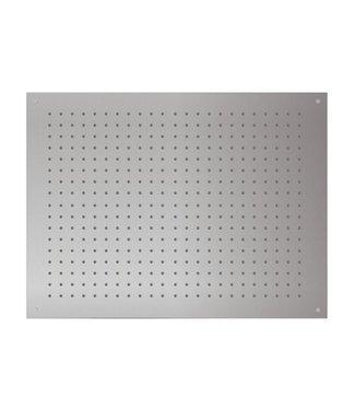Nordlig STAAL Vierkant Inbouw  Hoofddouche 80 cm x 60 cm -Geborsteld Staal