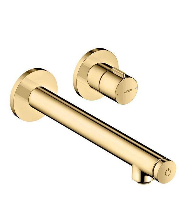 Axor Uno select Inbouw wandkraan + inbouwdeel , 165 mm ! Goud kleur. Set!