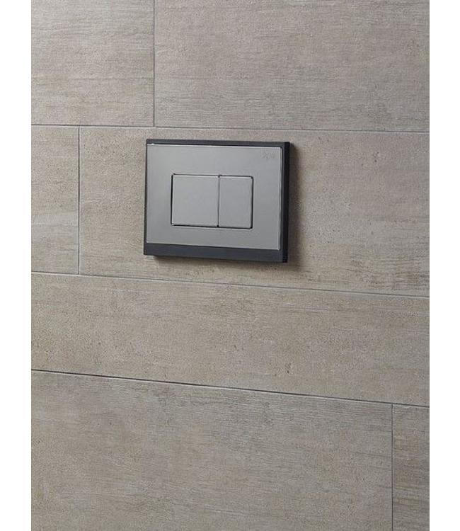 KLAROS bedieningspaneel soft zwart-mat chroom