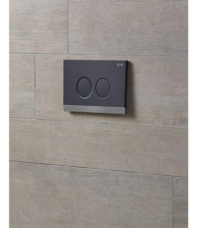 TEOS bedieningspaneel soft zwart-mat chroom