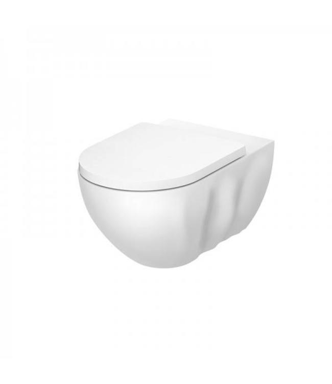 "Sanitear Randloos hang-WC "" INFINITI ""  Mat wit Antibacterieel nano coating met zitting"