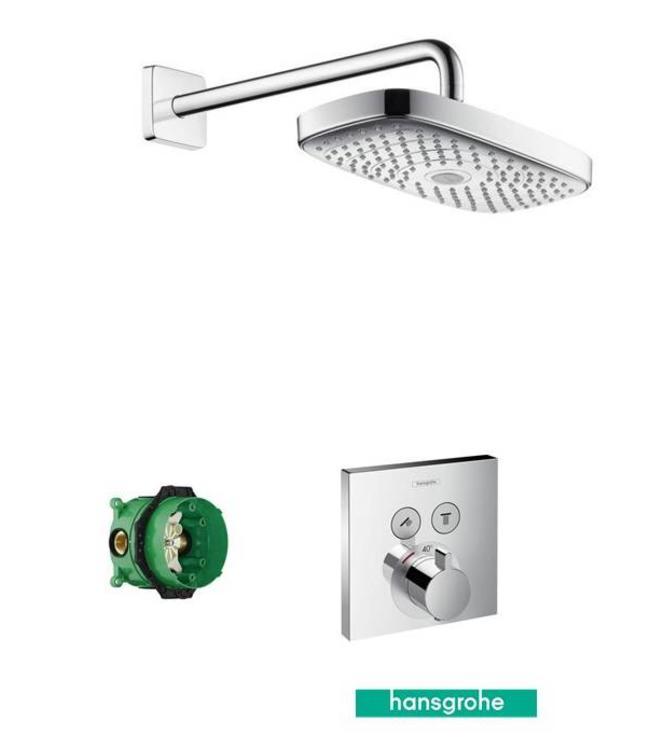 hansgrohe Shower Select  Inbouw douche thermostaatkraan 2 weg  & Omsteller & Hoofddouche