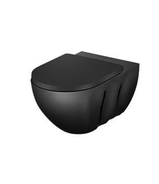 Sanitear INFINITI, Hangtoilet mat zwart, zonder spoelrand