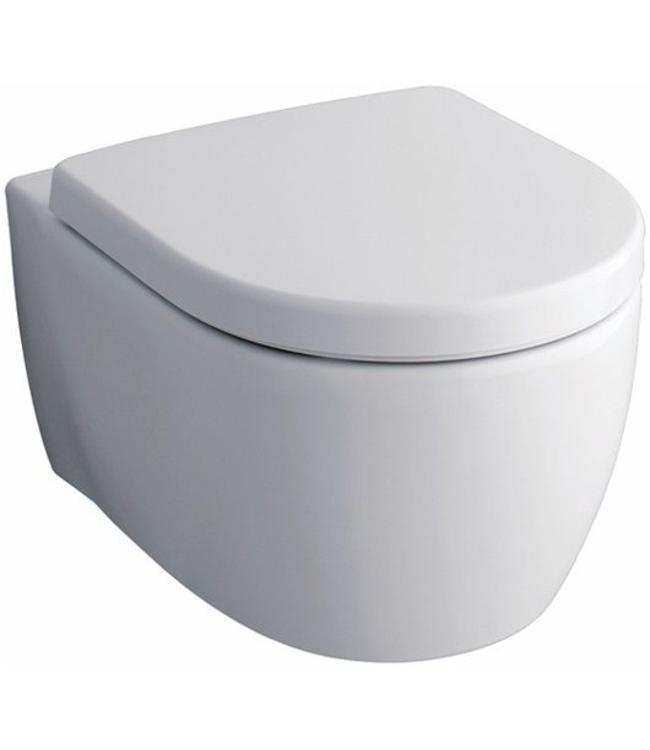 KERAMAG Keramag Icon wandcloset -zonder spoelrand met toiletzitting softclose