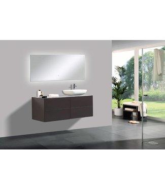 Sanitear 120 cm badkamermeubel set , 4 laden, mat bruin