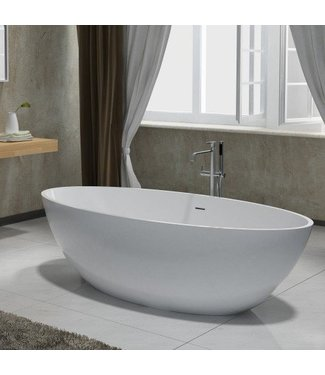 Sanitear CREA Solid surface & Stone Vrijstand ligbad 180 x 85 x 52 cm