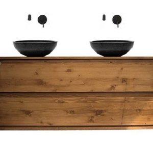 Badkamermeubel hout I + 20 design eiken hout badmeubels I - Sanitear