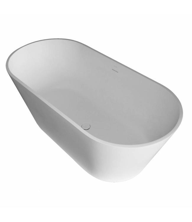 Como  Lecco  Solid surface &  Vrijstaand ligbad Mat wit 170 x 80 x 64 cm