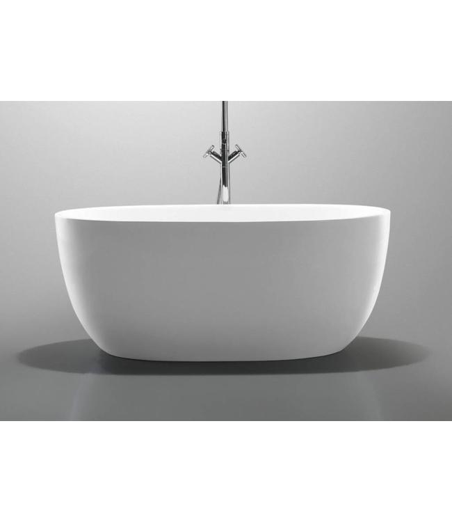 Como Como LECCO Solid surface &  Vrijstand ligbad Mat wit 176 x 103 x 56 cm