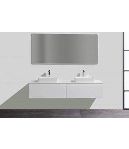 COMO CREA Badkamermeubel  set 160 cm  met led spiegel