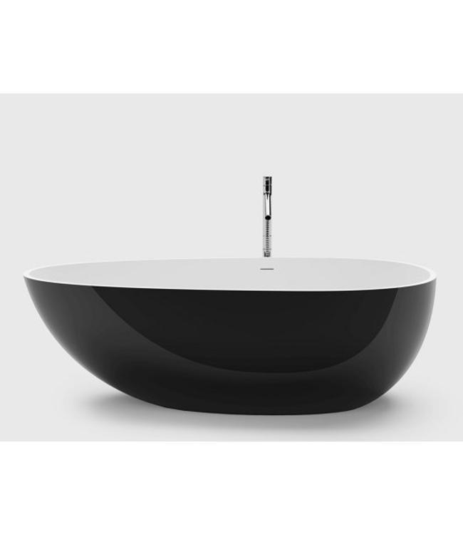 Sanitear Solid surface & Zwart  Vrijstand ligbad 170 x 86 x 54 cm