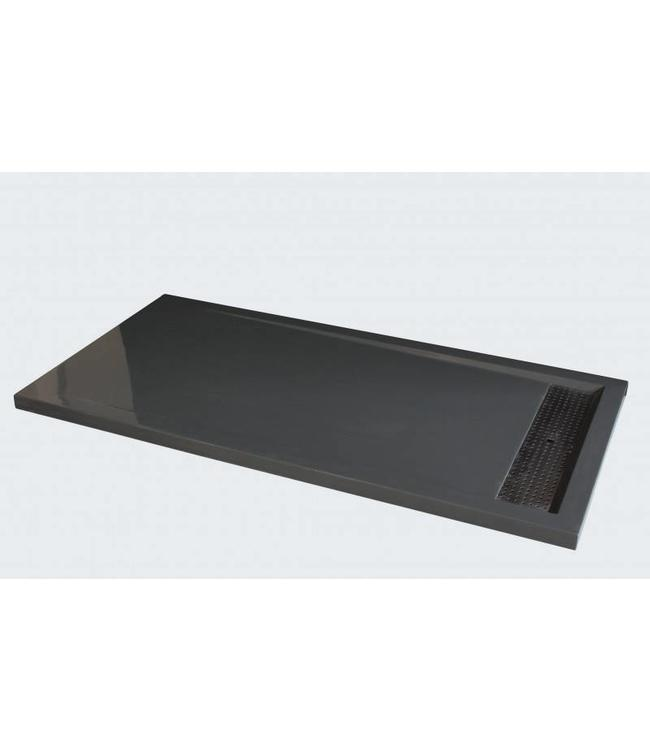 Como Solid surface Rechthoekige douchebak 140 x 80 x 4,65 cm