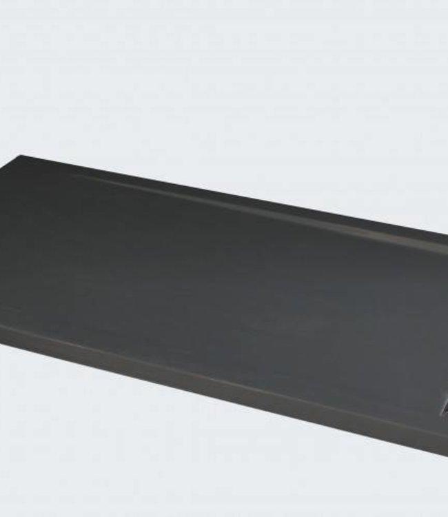 Como Douchebak rechthoekige 120 x 90 cm , Antraciet met rvs rooster
