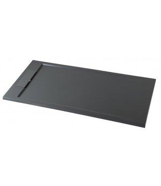 Como Mat Antraciet Rechthoekige Douchebak 120x90 cm Solid surface