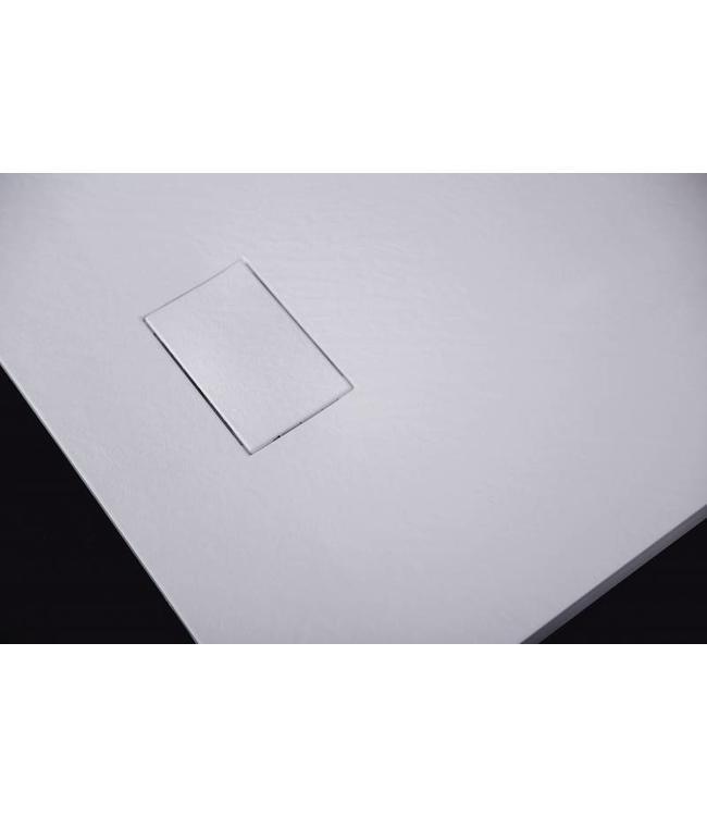 Sanitear 90x90 cm Antislip ,structuur surface met douchebak douchebakafvoer
