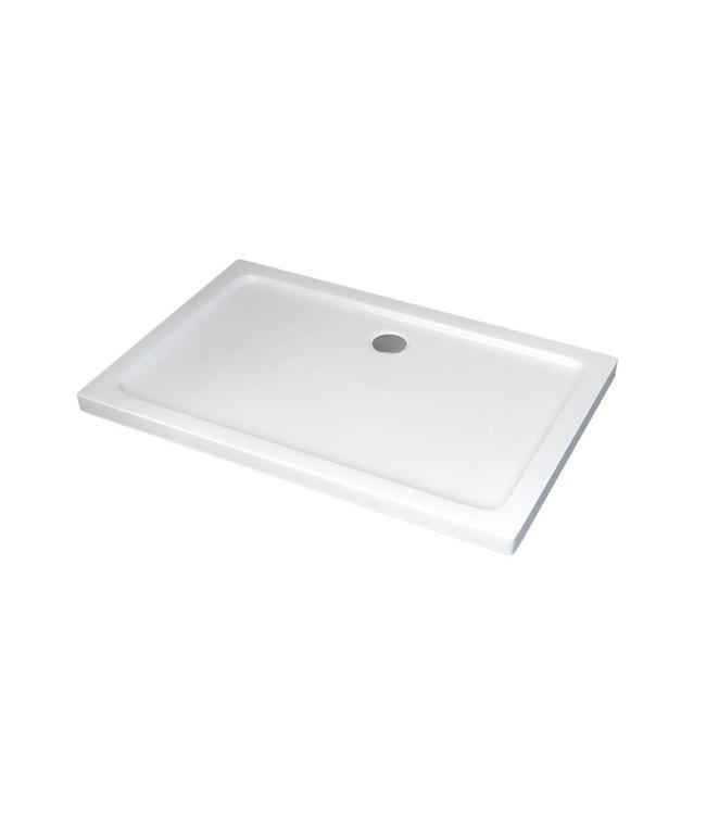 Sanitear 90x140 cm Antislip-Acryl  ,structuur oppervlak met douchebakafvoer